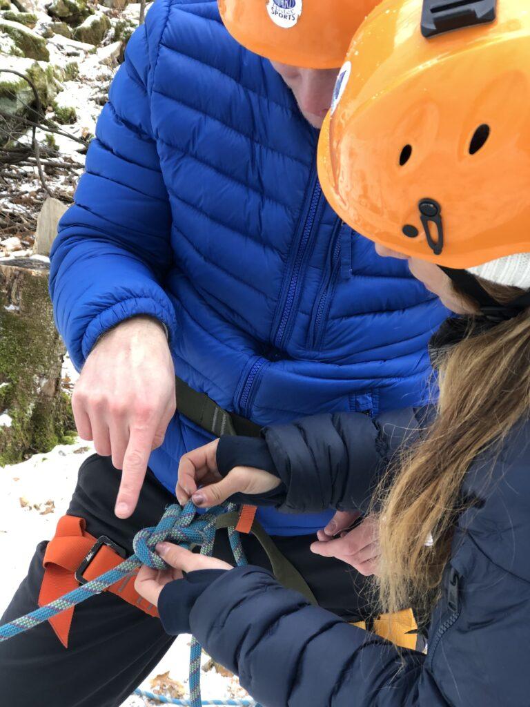 MN ice climbing class